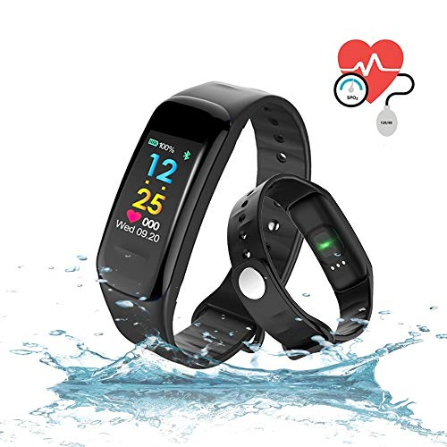 WADEO Fitness Armband, Fitness Tracker Aktivitätstracker Pulsmesser Wasserdicht IP67 Smartwatch Schrittzähler Sportuhr Damen Herren All-in-One Smart Armband