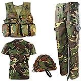 Kombat UK Kid's DPM No1 Army Combo Set, Camo, 7-8 Years