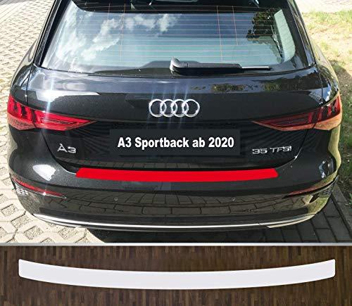is-tuning passgenau für Audi A3 Sportback ab 2020 Lackschutzfolie Ladekantenschutz transparent