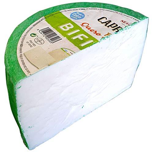 Queso de Cabra - Medio Queso Madurado Bífidus Caprillice - Peso Aproximado 1,2 kg - Elaborado 100{8b633d86d4206016d58a014275f57d201488e5e0a50438eb80e0083307e49f3b} con leche de cabra
