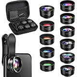 Phone Camera Lens, OYRGCIK 11 in 1 Phone Lens Kit, 2X Zoom Telephoto