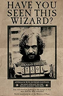 Pyramid International Wanted Sirius Black Maxi Poster, Wood, Multi-Colour, 61 x 91.5 cm