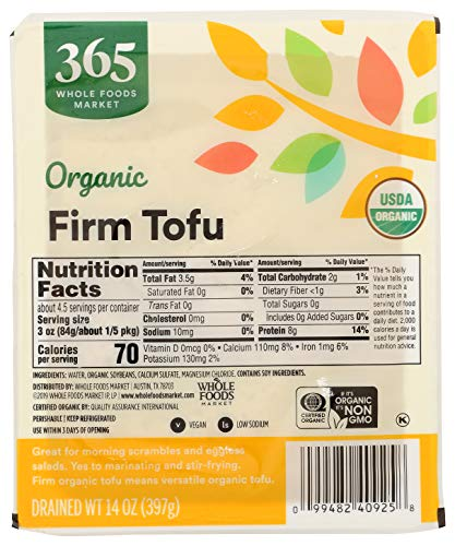365 by Whole Foods Market, Organic Tofu, Firm, 14 Ounce