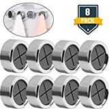 8 Pack Opening Dish Towel Rack Rag Hooks, Self Adhesive Wall Dish Towel Hook, Round Wall Mount Hook Tea Towel Holder for Bathroom, Kitchen and Home, Wall, Cabinet, Garage, No Drilling Required