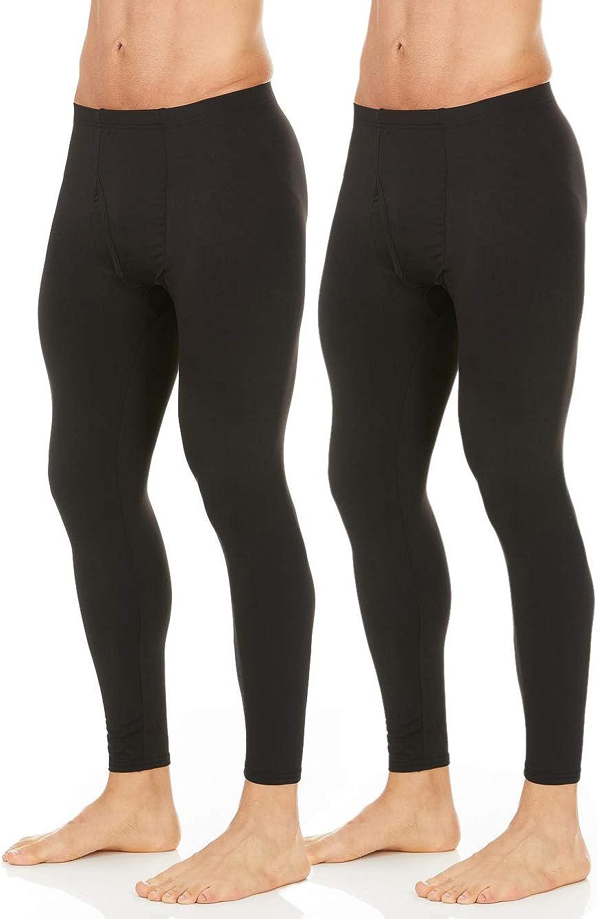 Thermajohn Men's 2 Pack Thermal Underwear Pants Long Johns Bottoms