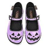 Hot Chocolate Design Chocolaticas Halloween Purple Bailarina Mary Jane para Mujeres Multicolor HCD 38