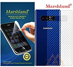 MARSHLAND 3D Carbon Fiber Flexible Back Screen Protector Anti Scratch Bubble Free Back Screen Guard Compatible for Samsung Galaxy Note 8