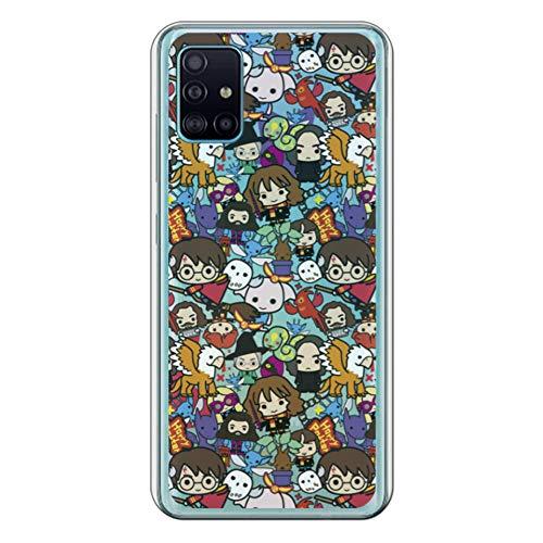 Movilshop Funda para [ Samsung Galaxy A51 ] Harry Potter Oficial [Charms Mix] Warner de Silicona Flexible Transparente Carcasa Case Cover Gel para Smartphone.