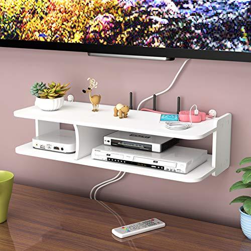 CLX Wohnzimmer TV-Set-Top-Box-Regalwand Rack Router Aufbewahrungsbox Wandbehang Schlafzimmer dekorative Trennwand Punch,B