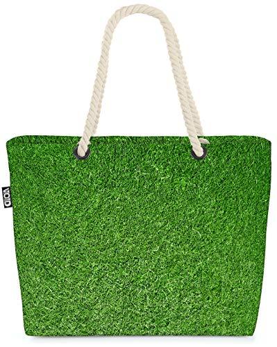 VOID Rasen Strandtasche Shopper 58x38x16cm 23L XXL Einkaufstasche Tasche Reisetasche Beach Bag