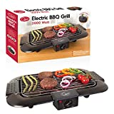Quest 35910 Electric Smokeless Portable <span class='highlight'><span class='highlight'>BBQ</span></span> Indoor Barbecue Grill Water Filled Drip Tray Reduced Odour Smoke, 2000 W