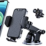 2021 Newest Andobil Phone Car Holder Mount, [Top Quality & Strong Suction] Ultra Stable Car Phone Mount for Dashboard Windshield,Cell Phone Holder for Car Fit for iPhone 12 Pro Max 11 XS X, All Phones