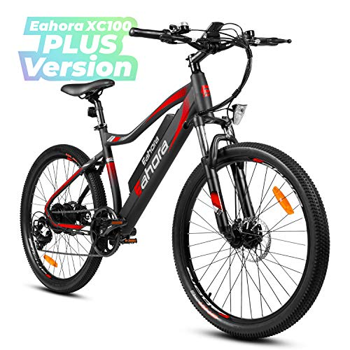eAhora XC100 Plus 26 Inch 48V 350W Electric Mountain Bike Cruise Control 10.4Ah Removable Lithium Battery Urban Electric Bikes for Adults Power Regeneration Tech 7 Speed Color Screen