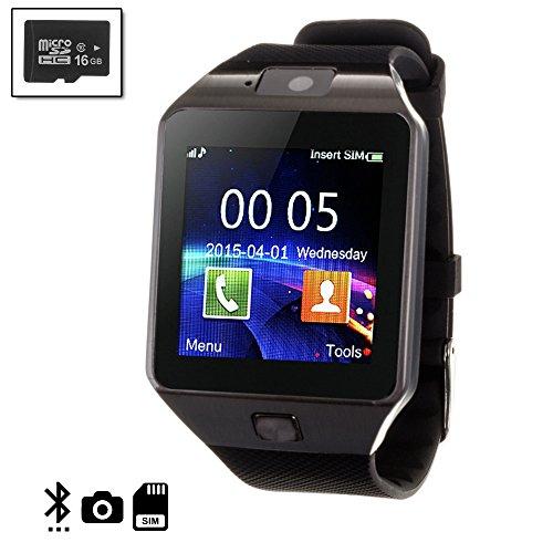 Silica DMN234SD16 - Smartwatch tekkiwear Dama n234 con Micro SD de 16 GB clase10, Color Negro