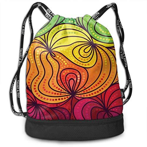 Lightweight Waterproof Large Storage Drawstring Bag For Men /& Women Red Helix Cinch Backpack Sackpack Tote Sack