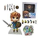 XINSHENG Zelda figura set 10cm/4inch Zelda Anime Figura Skyward Link 1/7 Anime Estatua PVC Figura de Acción Coleccionable Modelo Juguetes Muñeca Juguetes para Niños
