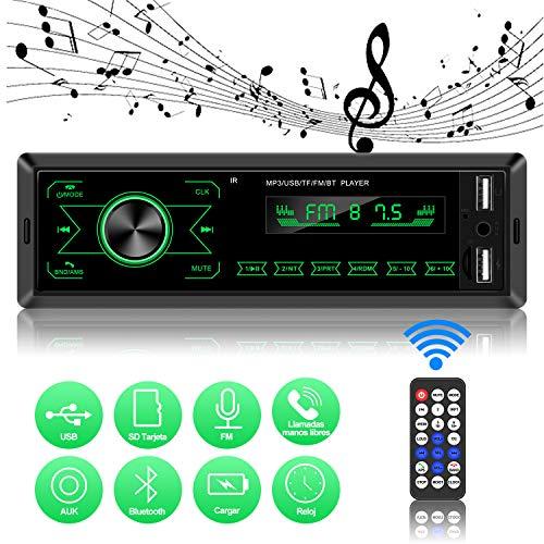 ODLICNO Autoestéreos Reproductor con Pantalla Táctil Estéreo para Auto MP3 para Coche con FM/USB/AUX…
