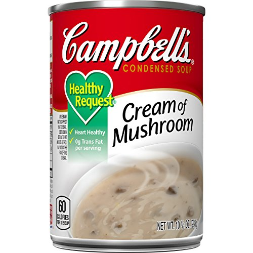 Campbell's Condensed Healthy Request Cream of Mushroom Soup, 10.5 oz. Can (Pack of 12)