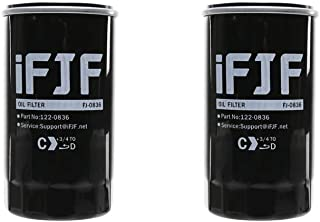 iFJF 122-0836 Oil Filter for HGJAA HGJAB HGJAC Cummins Onan Generator Replace OEM 122-0836 01220836(Set of 2)