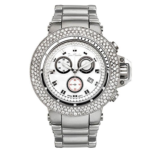 Joe Rodeo Reloj Diamond para hombre - RAZOR silver 7.2 ctw