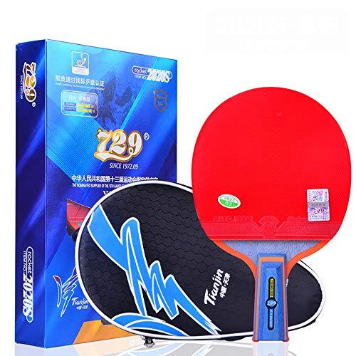 SSHHI Raquetas de Ping Pong para uso doméstico, Juniors, Juego de Raquetas de Ping Pong, Adecuado Para Estudiantes, Sólido/Como se muestra/mango corto