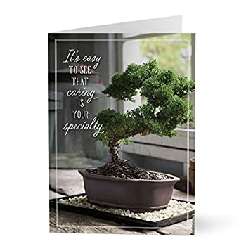 Hallmark Employee Appreciation Cards for Nurses Teachers Doctors First Responders Medical Professionals  Caring Is Your Specialty Bonsai Tree   Pack of 25 Greeting Cards