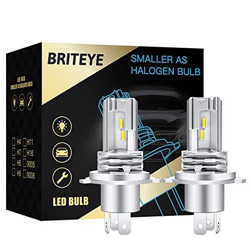 H4 LED Bombilla 6500K Blanco Faros de Luces Altas/Bajas Coche DC 12V/24V Faros Lámparas Para Coches(2pcs)