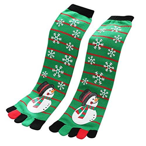 TWIFER 3D Damen Gedruckt Weihnachten Baumwollsocken Nette Unisex Low Cut Socken (B, Länge: 40-50cm)