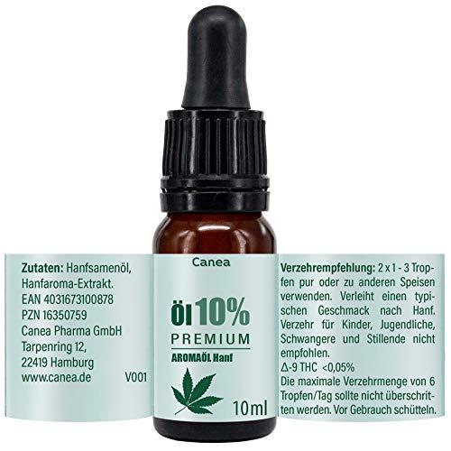 10% Premium Aroma Öl mit natürlichen Zutaten, vegan, Made in Germany, 10 ml Tropfen