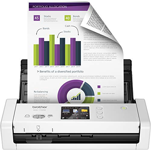 Brother Wireless Document Scanner, ADS-1700W,...