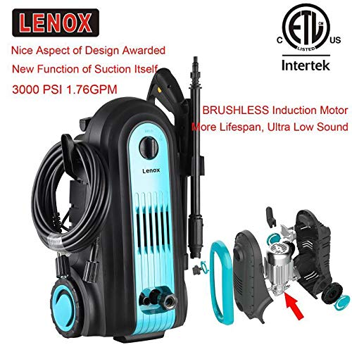 Find Bargain Lenox Electric Pressure Washer 3000 PSI 1.76GPM Electric Power Washer Machine BRUSHLESS...