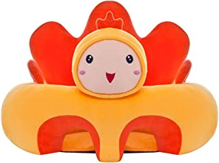 Fengbingl-bb Baby Support Sofa Baby Seat Support Cushion Infant Chair Sofa Animal Chick Shape Baby Learning Sitting Chair Kids Plush Pillow Toys Gift Children Couch Bed Baby Sitting Chair