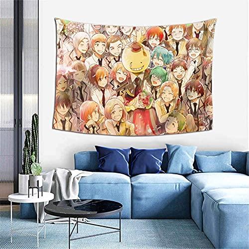 XCNGG Tapiz de anime As-ss-in-ati-on Cla-ss-room - Tapiz para colgar en la pared, sala de estar, dormitorio, dormitorio, decoración del hogar, tapices para interiores y exteriores, 60 x 40 pulgad