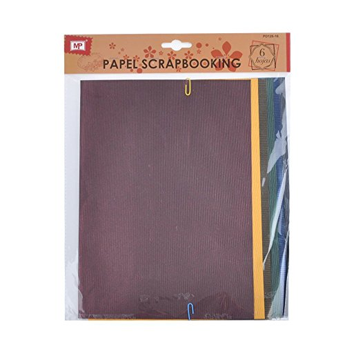 MP PD126-16 - Pack de 6 hojas papel con textura scrapbooking, 20 x 39