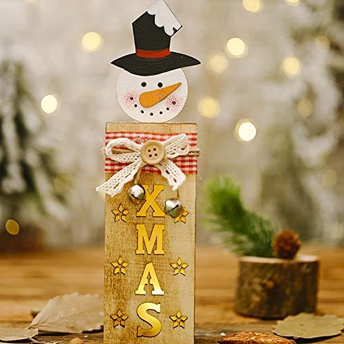 DIAOSUJIA Addobbi Natalizi,Natale Pupazzo di Neve Ornamenti con Luci Tavolo di Natale Decor per La Casa Natale Ornement Regalo di Natale Regalo di Natale