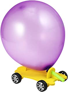 Toyvian Scientific DIY Balloon Car Kids Science Experiment Toys Children's Educational DIY Assembly Model Toys Set for Kids
