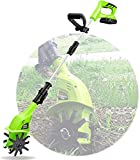 ASEDF Tiller Rotavator Cordless, 20V Portable Electric Hand Tiller with Rechargeable Battery and Charger, 97-127cm Adjustable Handle, Hand Held Soil Cultivators for Garden