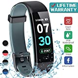 Best Monitors With Calorie Counters - K-berho Fitness Tracker,Activity Tracker with Heart Rate Monitor,Step Review