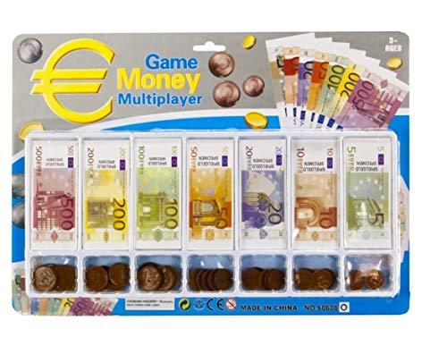 Game Money Spielgeld | Rechengeld | Euro | Set | Kaufladen Zubehör für Kinder | Scheine und Münzen | Geschenk |