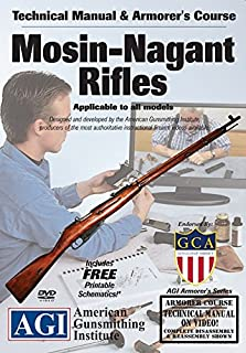 American Gunsmithing Institute Armorer's Course Video on DVD for Mosin-Nagant Rifles - Technical Instructions for Disassembly, Cleaning, Reassembly and More
