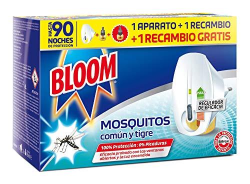 Bloom Insecticida Doble Eficacia Electrico Líquido para mosquitos común y tigre - 1 Aparatos + 2 Recambios