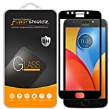 (2 Pack) Supershieldz for Motorola (Moto E4 Plus) and Moto E Plus (4th Generation) Tempered Glass Screen Protector, (Full Cover) Anti Scratch, Bubble Free (Black)