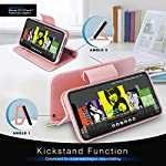 FYY Case Compatible for iPhone 12 /iPhone 12 Pro 6.1″, [Kickstand Feature] Luxury PU Leather Wallet Case Flip Folio Cover with [Card Slots] and [Note Pockets] for iPhone 12/12 Pro 5G 6.1″ Rose Gold
