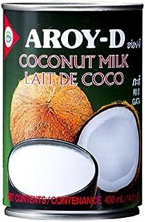 Aroy-D - Leche de coco, 8 cajas de 400 mililitros