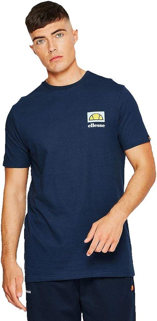 ellesse Fondato Tee ギフト プレゼント 内祝い ご褒美 Navy Cotton T-Shirt Printed
