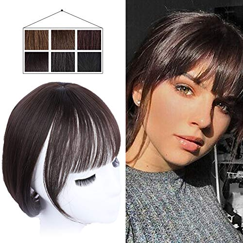 FORCUTEU Clip in Bang One Piece 3D Air Bangs Straight Hair Bangs For Women Clip in Synthetic Hair Extensions Clip in Fringe Hair Extensions