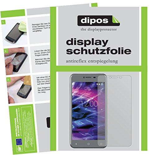 dipos I 2X Schutzfolie matt kompatibel mit Medion Life E5008 Folie Bildschirmschutzfolie