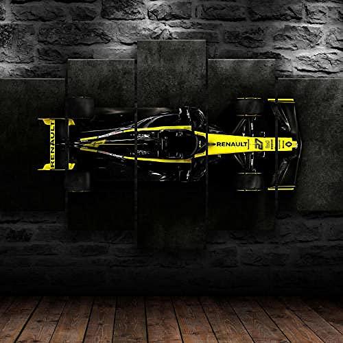 Cuadro Fórmula 1 F1 Racing XXL Impresiones En Lienzo 5 Piezas Cuadro Moderno En Lienzo Decoración para El Arte De La Pared del Hogar HD Impreso Mural Enmarcado