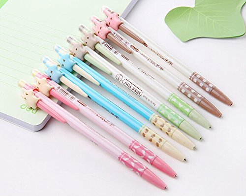 Schoolsupply Set of 10 Cute Cartoon Stars Automatic Pencil Writing 0.7mm Pencil Stationery School Supplies for Kids
