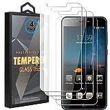 Ycloud 4 Pack Vidrio Templado Protector para ZTE Blade A612, [9H Dureza, Anti-Scratch] Transparente Screen Protector Cristal Templado para ZTE Blade A612